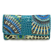sequins crocodile faux leather woman checkbook L wallet Designer inspired