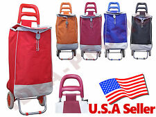 Folding Shopping Cart Rolling Wheels LAUNDRY GROCERY Trolley Bag