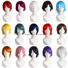 Unisex Short Wig Curly Full Head Hair Cosplay Costume Party Daily Fancy Dress UK
