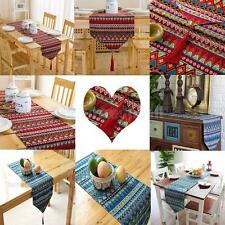 Wedding Decorative Table Runner Cotton Linen Table Cloth Mat Red/Blue 3 Sizes