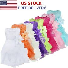 Flower Girl Toddler Baby Kid Princess Wedding Birthday Pageant Formal Tutu Dress