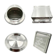 """Sundely Stainless Steel Wall Air Vent Metal Cover Outlet Exhaust Grille 4"""" 5"""" 6"""""""