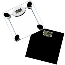 DIGITAL ELECTRONIC GLASS LCD WEIGHING BODY SCALES BATHROOM LOSE FAT 180KG MAX