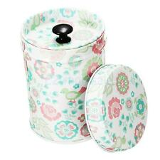 Cylinder Double Cover Tea Canister Container Food Caddy Storage Jars Tin Box