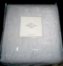 $260 New Premium Sferra Chalet 100% Plush Cotton Blanket Queen or King Gray