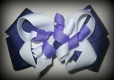 Purple Korker Hair Bow Girls Baby Boutique Clip Infant