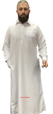 Men's Emirati Islamic Arabian Wide Collar Dishdasha Thobe Jubba
