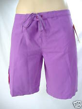 "New Junior Womens 7 ROXY ""Roots"" Purple Surf Swim Suit Board Shorts $35"
