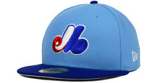MONTREAL EXPOS MLB NEW ERA 59FIFTY RETRO COOPERSTOWN 2-TONE FITTED HAT/CAP NWT