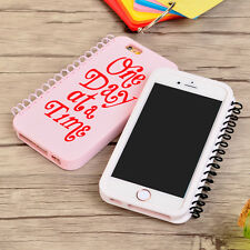 Cool Cartoon Smile letter notebook Silicone Soft case cover for iphone 6 6S plus