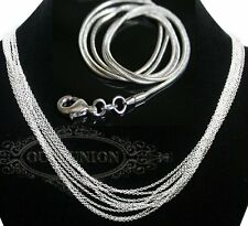 Fashion Factory Price Silver Plated 1mm-2mm Snake Necklace Chain Jewelry Chains