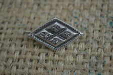 ANTIQUE VICTORIAN silver sweetheart brooch diamond shaped textured