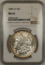 1883-O Morgan Silver Dollar $1 NGC MS-62 Toned (Better Coin) (13a)