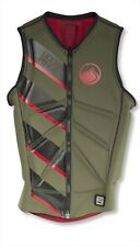 2016 Liquid Force Z Cardigan Zip Wakeboard Impact Vest, Green Red S-XL. 61347