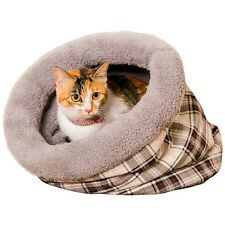 Pet Dog Bed Puppy Kitten Grid Tunnel Cushion House Cozy Soft Beds Mat Pad