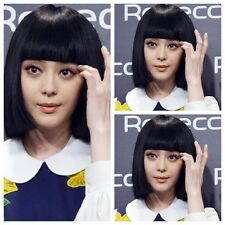 Hot Womens Fashion Short Straight Bangs Cosplay Costume Wig Heat Resistant Hair