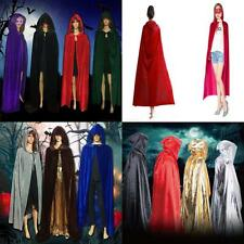 Gothic Hooded Cloak Wicca Robe Medieval Witchcraft Cape Halloween Outfits Dress