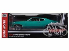 AUTO WORLD AMM1018 AMM1039 FORD TORINO COBRA diecast model cars 1970 1:18th