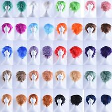 UNISEX Anime Short Wig Cosplay Party Straight Hair Cosplay Full Wigs Costume #J2