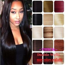 """Real Thick Double Wefts Clip In Remy Human Hair Extensions Full Head 14-22"""" V482"""