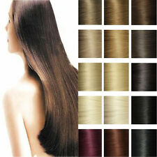 Silky AAAA+ 100% Clip In Remy Real Human Hair Extensions Full Head DIY WEFT T409