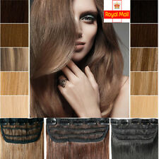 Deluxe 100% Real AAA Remy Human Hair Extensions 1 Pcs Clip In 3/4 Full Head T127