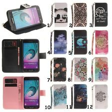 Card Holder Lanyard Leather Flip Wallet Case Cover Stand Floral For Mobile Phone