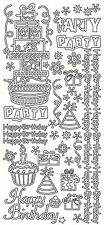 Happy Birthday Party Presents Peel Off Stickers Sticker CardMaking Scrapbooking