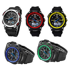 OHSEN Digital LCD Alarm Date Mens Sport Rubber Watch Blue SP