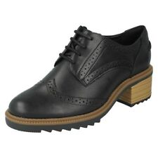 Ladies Clarks Leather Smart Brogue Trouser Shoes Style - Balmer Bella