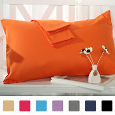 Pillow Cases Covers Pillowcases Standard Queen King Body Egyptian Cotton 1,2 Pcs