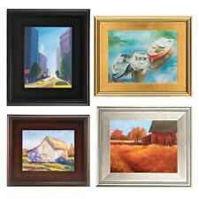 """3"""" WIDE PLEIN AIR Gold Silver Black Brown WOOD FRAMES FOR PHOTO PICTURE PAINTING"""
