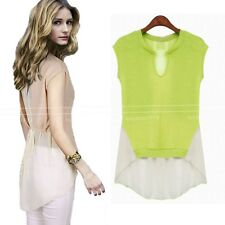 Casual Summer Fashion NEW Chiffon Sheer Apparel Top AU sz 6-14