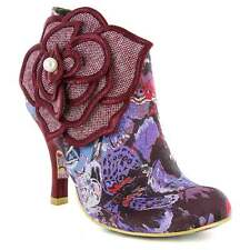 Irregular Choice Pearl Necture 3615-9C Womens Ankle Boots Bordo/Purple