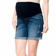 Oh Baby by Motherhood™ Mid-Belly Distressed Jean Shorts - Maternity SMALL,MEDIUM