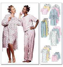 McCalls Miss Sewing Pattern 2476 Robe Nightgown Top Pull-On Shorts Trouser