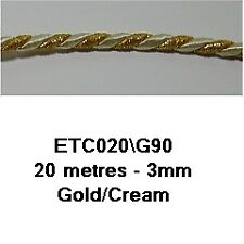 Essential Trimmings ETC020 | Twisted Cord 3mm x 20m