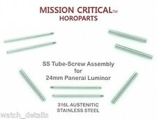 for Panerai 44mm Tubes & Screws  Mission Critical  24mm Watch   1, 2, 4, 10 Sets