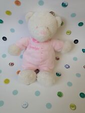 MARKS AND SPENCER M&S PINK SLEEPTIGHT TEDDY BEAR BABY SOFT HUG TOY COMFORTER VGC
