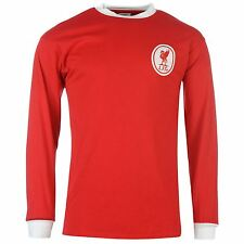 Liverpool FC 1964 Home Jersey Score Draw Mens Red/Wht Retro Football Soccer Top