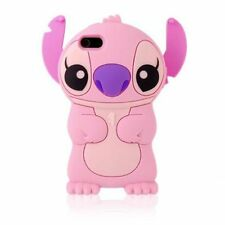 Pink Lilo & Stitch 3D Cute Cartoon Soft Silicon Case Cover Skin for iPhone 4 4s