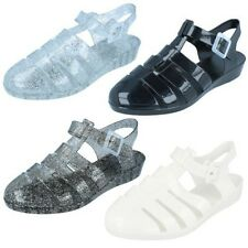 Ladies Spot On Wedge Jelly Shoes Style-F10320