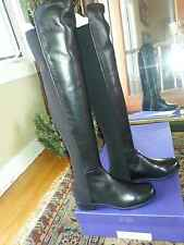 Stuart Weitzman Black Napa 5050 NEW IN BOX  Over the Knee Leather Boots 7M