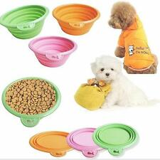 New Silicone Pet Bowl Travel Outdoor Puppy Cat Feeding Food Drink Collapsible T`
