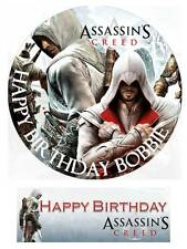 Assassins Creed Personalized Edible Cake toppers 7 Inch/ cupcakes  Precut