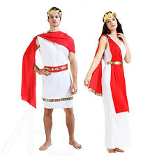 Mens Womens Roman Toga Caesar Venus Greek Grecian God Fancy Dress Couple Costume