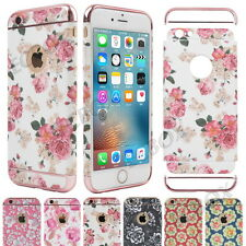 Flower Patterned Shockproof Hybrid Hard Back Case Cover For Apple iPhone Series