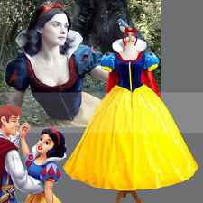 Disney Snow White Princess Cosplay Christmas Costume Fairytale Party Ball Dress