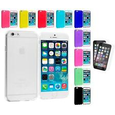 For Apple iPhone 6 (4.7) TPU Case Cover Clear+2X Anti Glare Screen Protector