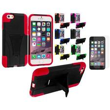 For Apple iPhone 6 (4.7) Hybrid Armor Case Stand+Anti Glare Screen Protector